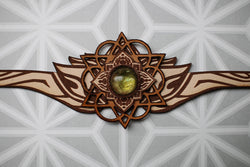3rd Eye Lumerian Crown -Merkaba Headpiece- -Goddess- -Tribal- -Fairy- Galactic- Orgone Energy- Peridot