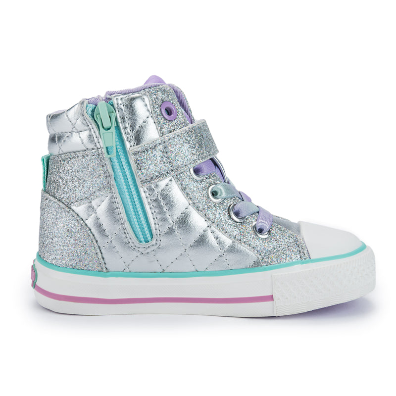 Rhinestone High Top Sneaker