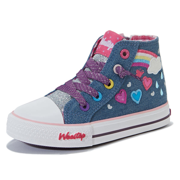 Rainbow Heart High Top Sneaker