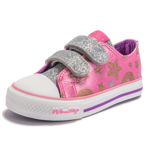 Glitter Star Sneaker_Hot Pink
