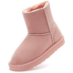 Girl's Classic Boots_Pink/Brown
