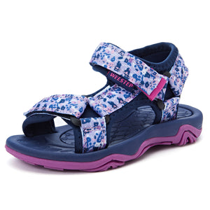 Adjustable Strap Sandal_Purple Flower/Hot Pink/Pink/Purple