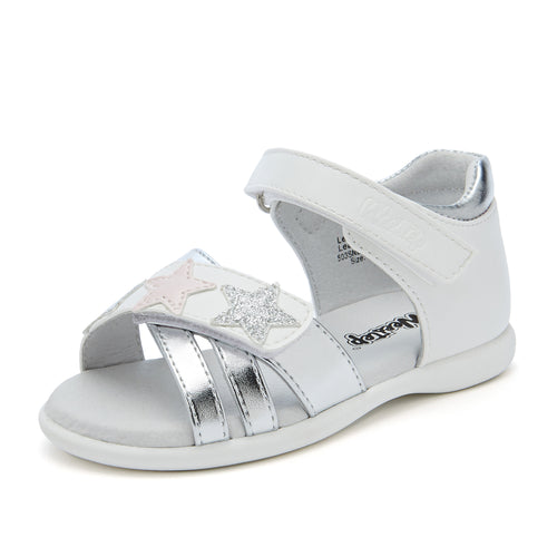 Stars Leather Sandals_White