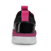 Girl's Elastic Band Sports_Black/Coral/Purple/White