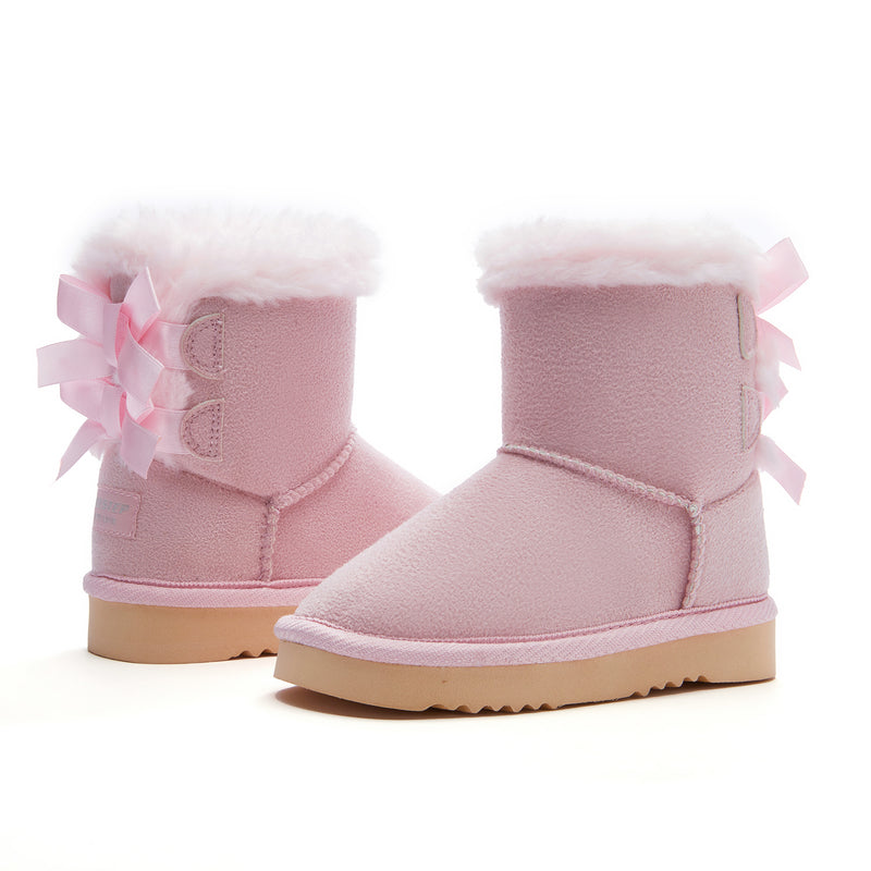 Girl's Double Bows Snow Boots