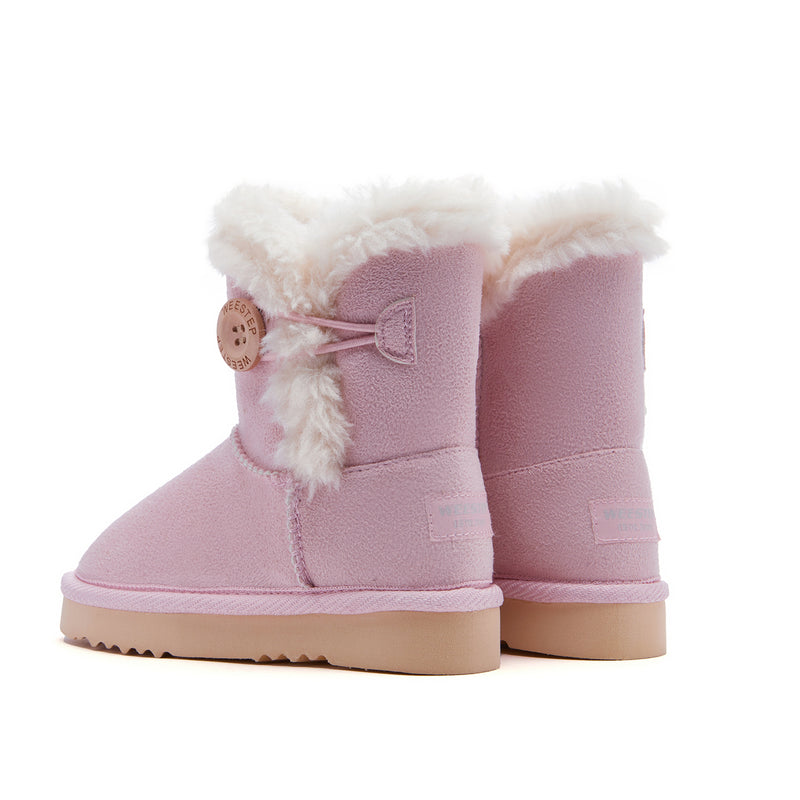 Girl's Classic Button Snow Boots