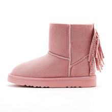 Girl's Pony Tail Boots_Brown/Pink