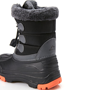 Boy/Girl Furry Waterproof Snow Boots_Purple/Black