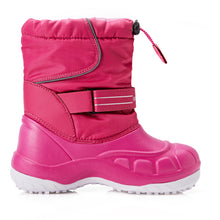 Boy/Girl Simple Waterproof Snow Boots_Navy/Hot Pink