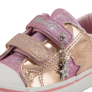 PU Stars Strap Sneaker_Pink/Silver/Gold