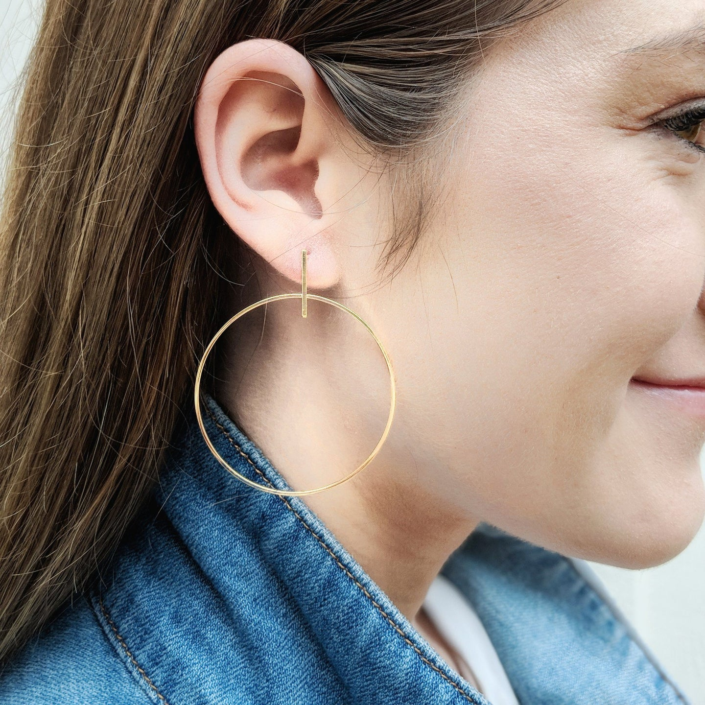 Hey Girl Asheville Gold Dipped Hoops