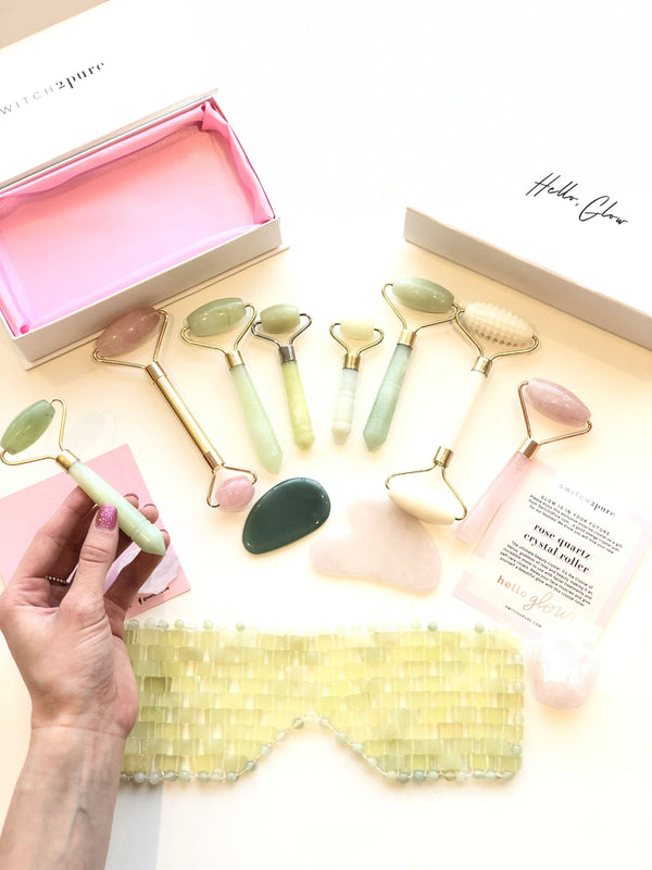 Switch2Pure Dual Sided Jade Crystal Facial Roller