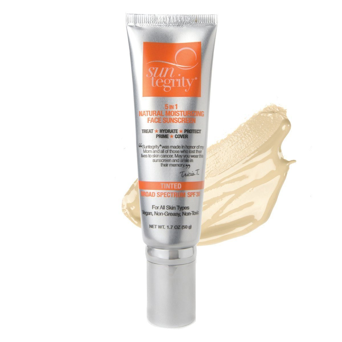 Suntegrity Natural 5 In 1 Tinted Moisturizer Primer Face Sunscreen Acnes Uv Tint Spf 35 Switch 2 Pure