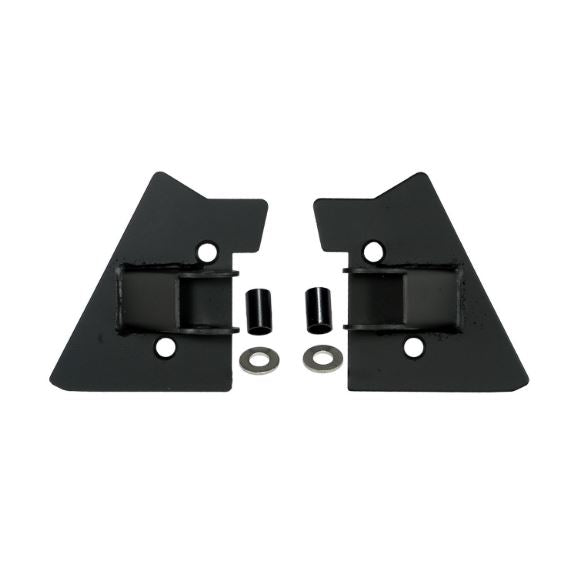 Rugged Ridge 11025.02 Mirror Relocation Brackets, Black; 97-02 Jeep Wrangler TJ