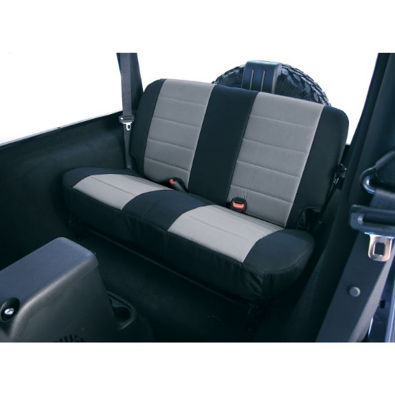 Rugged Ridge 13261.09 Neoprene Rear Seat Covers, Gray; 97-02 Jeep Wrangler TJ