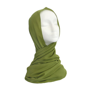 Apple Green Chiffon Hijab #51
