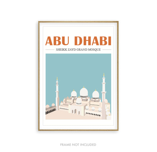 Mosque Illustration Abu Dhabi