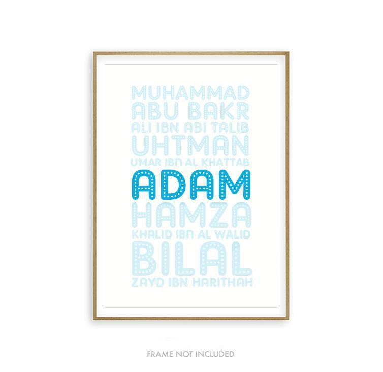 Boys Custom Name Sahaba Art Print