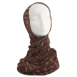 Brown Casablanca Printed Hijab