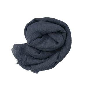 Crinkle Hijab - Denim Blue #27