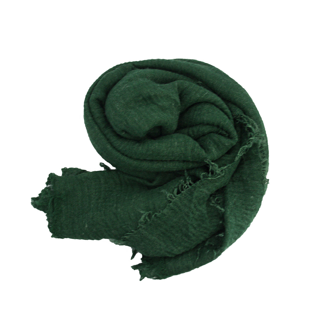 Crinkle Hijab - Forest Green #19