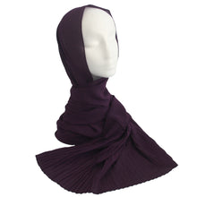 Pleat Detail Hijab Eggplant