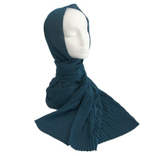 Pleat Detail Hijab Teal