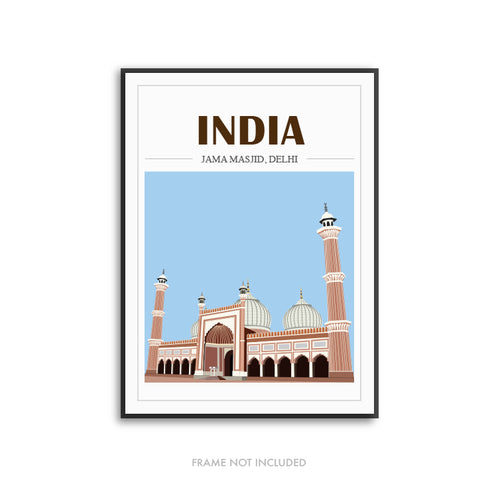 Mosque Illustration India