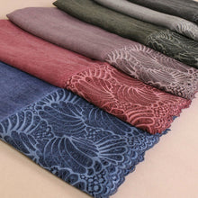 Lace Edge Hijab Berry
