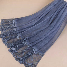Lace Edge Hijab Blue