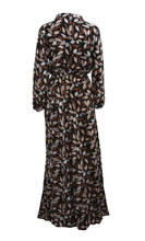 Summer Leaves Print Maxi Dress