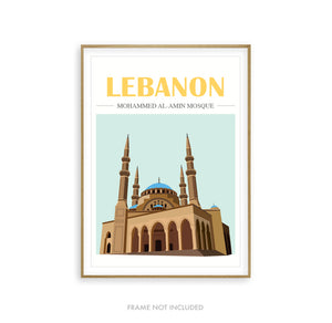 Mosque Illustration Lebanon