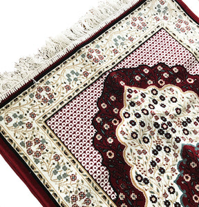 High Quality Prayer Mat - Maroon - Made in Madina