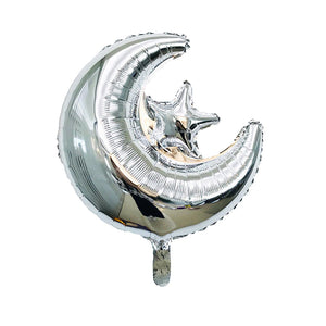"Moon & Star 18"" Foil Balloon - Silver"