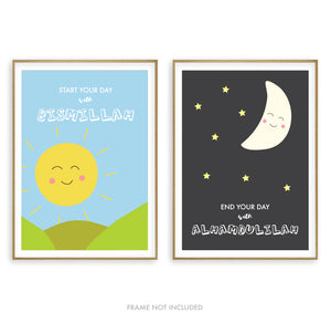 Morning & Evening Print Set - Kids