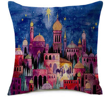 Islamic Decorative Cushion - Mosque with the Night Sky