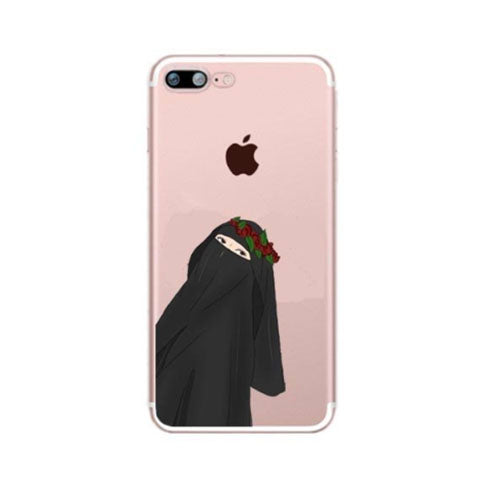 Niqabi with flower crown Phone Case