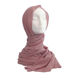 Pleated Hijab Nude Pink