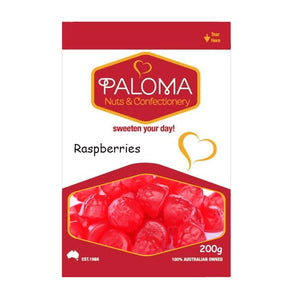 Raspberries Halal Lollies