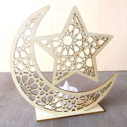 Moon & Star Wooden Stand