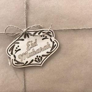 Wooden Eid Gift Tags - Pack of 5