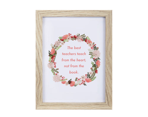 Teacher Gift Quote Frame