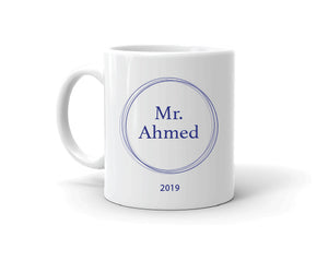 Personalised Teacher Mug Navy