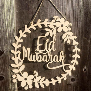 Eid Wreath Wooden