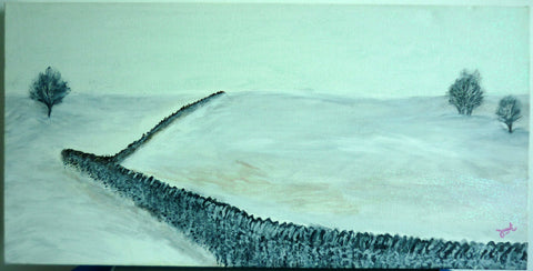 Snowy Countryside (acrylic on canvas)