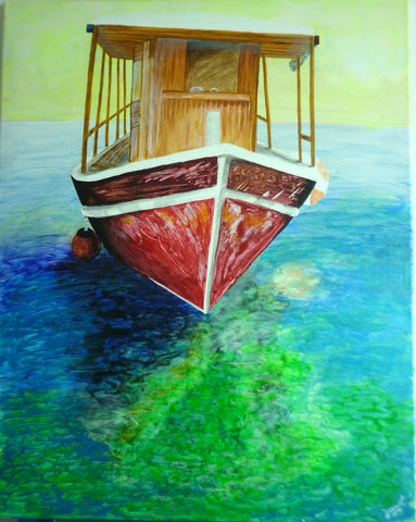 """Maria"" the Boat (acrylic on canvas)"