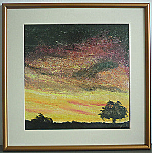 Sunrise (oil-based media paint)