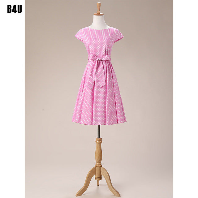 54455d684f Plus Size Women Clothing Audrey hepburn 50s Vintage robe Rockabilly Dresses  Summer Style Retro Swing Casual