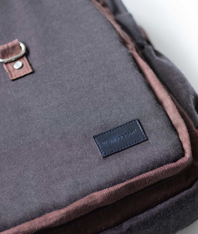 Walnut - Charcoal backpack for men and women