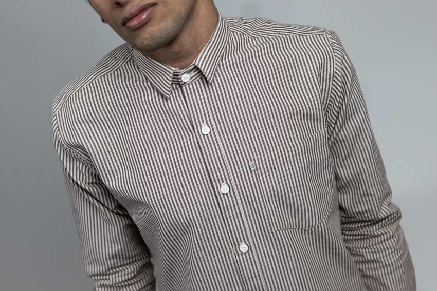 Mocha weekday stripes Shirt by Neith